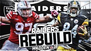 Rebuilding The Oakland Raiders | Antonio Brown + Nick Bosa Dream Team | Madden 19 Franchise Mode