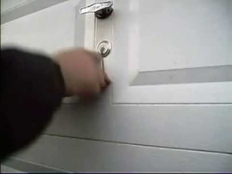 Clopay Garage Door Lock Picked Open   YouTube