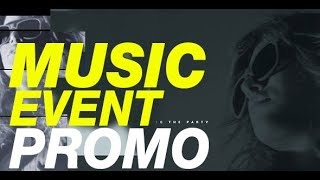 Music Event Promo Party Invitation Template After Effects From
