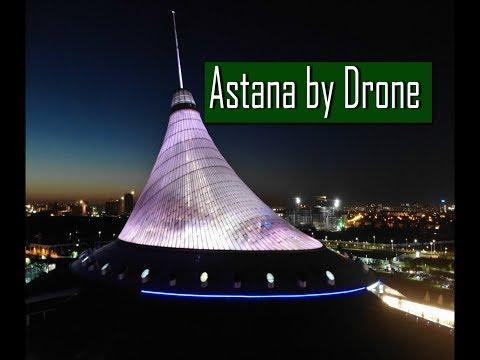 My Kazakhstan trip - Part 06 Sightseeing Astana by drone, Bayterek Tower, Khan Shatyr, Expo