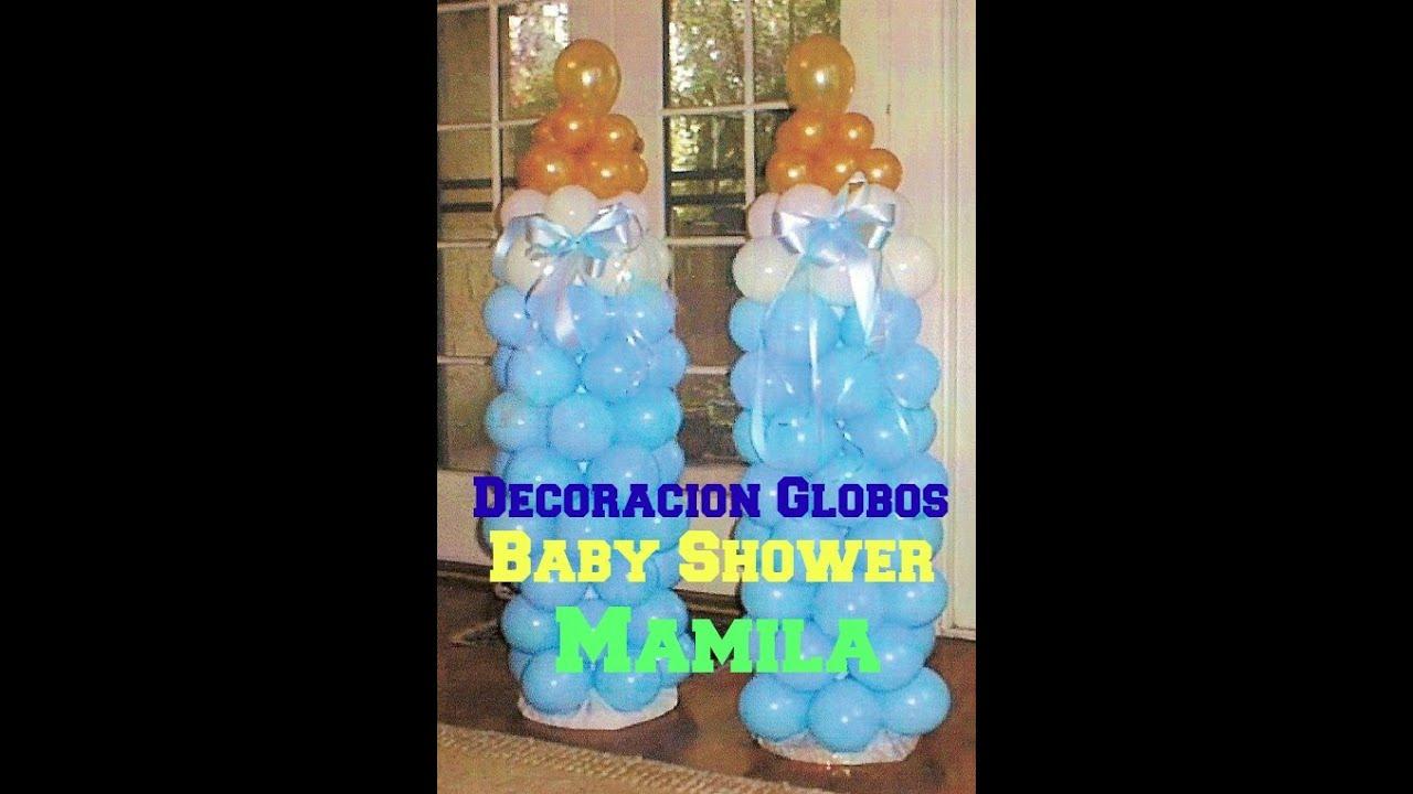 decoraci n de globos baby shower mamila econ mico y f cil