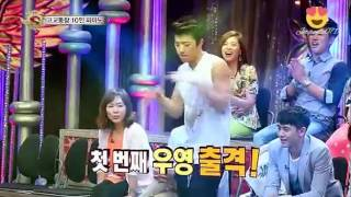 2PM Wooyoung,Nichkhun,Taecyeon,Junho Dance at St4r K!ng - Junho Accidentally Break Studio Light