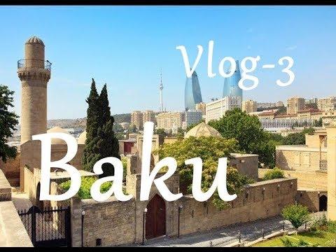 Baku - City Tour - Fəvvarələr Meydani -Targovi Square - Aq Şəhər - White City - Azerbaijan - VLOG-3