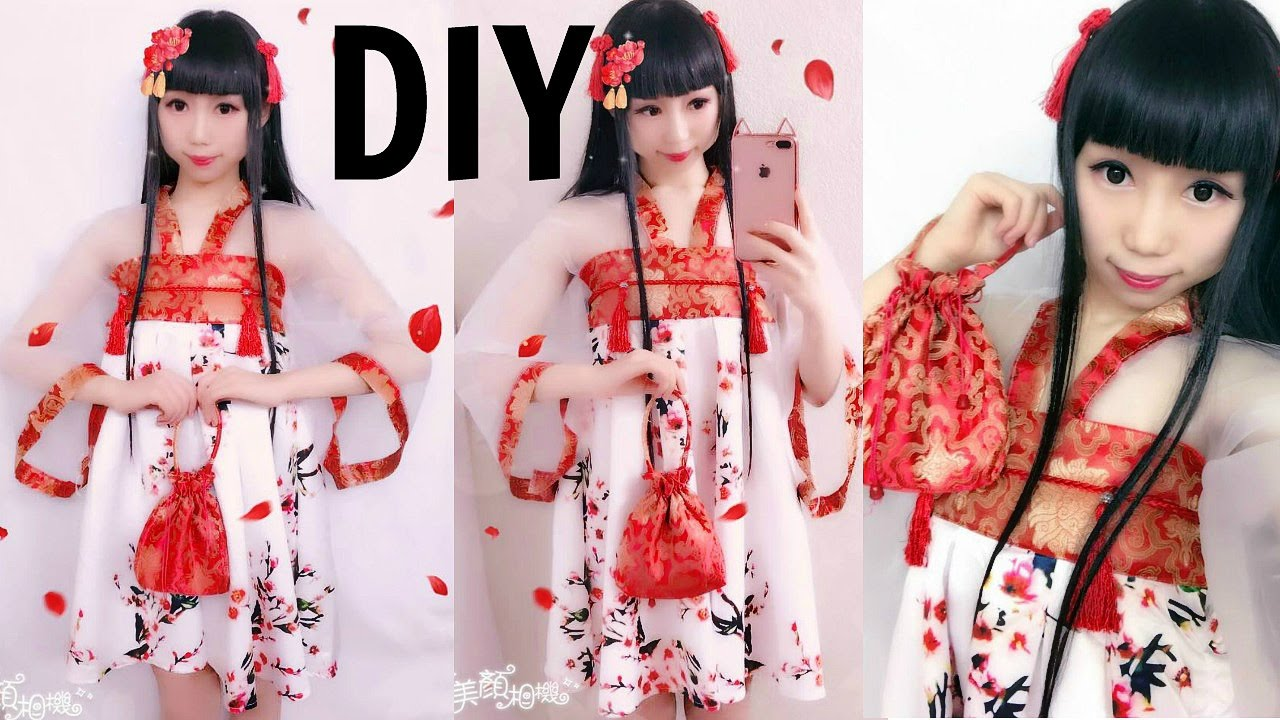 Diy First Time Making Chinese Han Element Dress Inspired By Hanfu