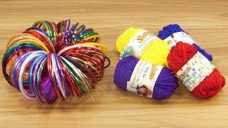 Genius Craft Idea with Woolen & old bangles | DIY arts and crafts | DIY HOME DECO