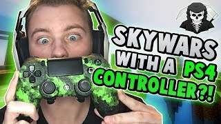 PLAYING SKYWARS WITH A PS4 CONTROLLER?! ( Hypixel Skywars )