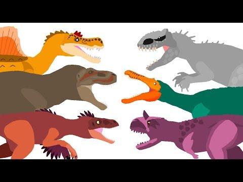 Dinosaurs Cartoons Battles - the BEST of DinoMania - animated movies 2018 | Dinosaurs Fighting