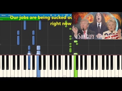 Schmoyoho - Bad hombres Nasty women - Karaoke / Piano synthesia (lyrics / Trump VS Clinton)