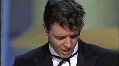 Russell Crowe winning Best Actor