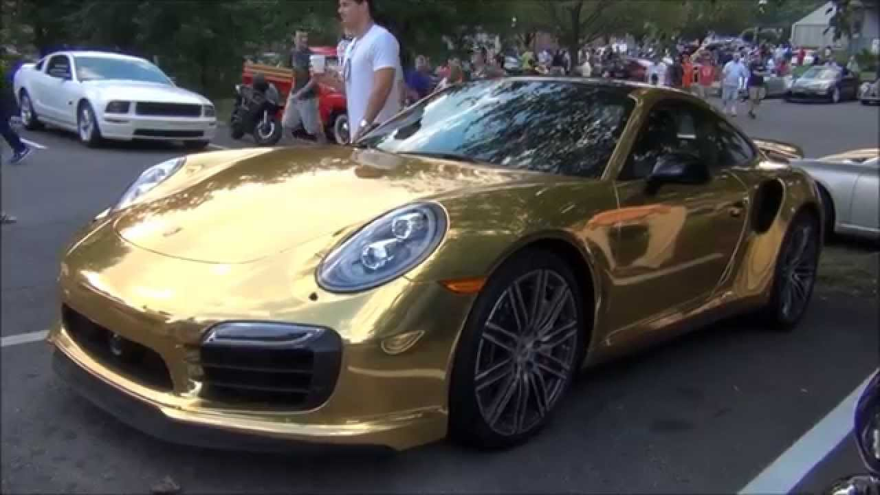 Wrapped Gold Porsche 911 Turbo S Youtube
