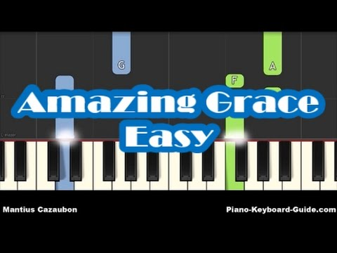 How To Play Amazing Grace on Piano and Keyboard – Notes – Very Easy Piano Tutorial