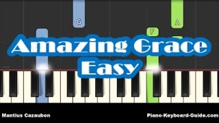 How To Play Amazing Grace on Piano and Keyboard - Notes - Very Easy Piano Tutorial