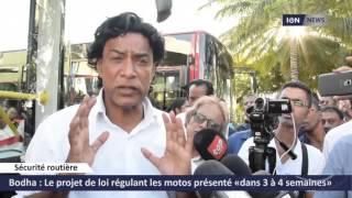 Bodha: Le projet de loi régulant les motos présenté «dans 3 à 4 semaines»