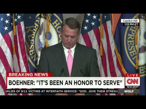 Boehner tears up when recounting story of intimate moment with Pope Francis
