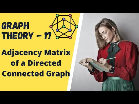 Graph Theory -17 Adjacency Matrix of a Directed Connected Graph