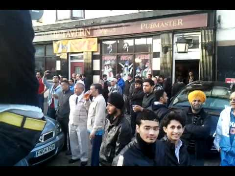 Jashan on soho road  coz india won match wid pak