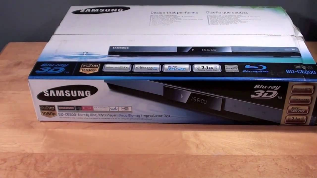 046c33020 Samsung Wireless 3D Blu-ray Player (BD C6800): Review - YouTube