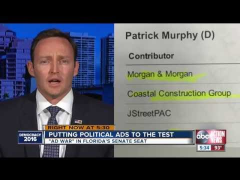 """WFTS-TV: Patrick Murphy's Top Donors Include """"His Daddy's Company"""""""