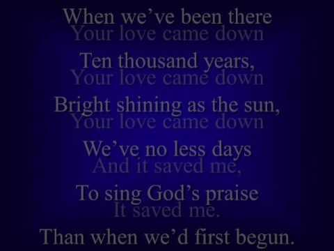 Amazing grace Love came down video track music track karaoke accompaniment tracks