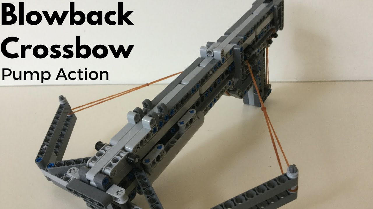 Pump Action Crossbow (Working Blowback) - YouTube