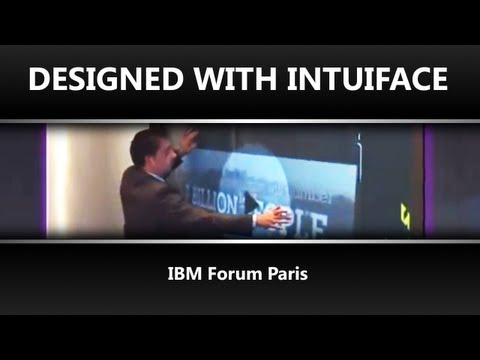 IBM Forum Paris - IntuiFace Showroom