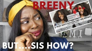 Response to Breeny Lee's Why INFLUENCERS are BROKE
