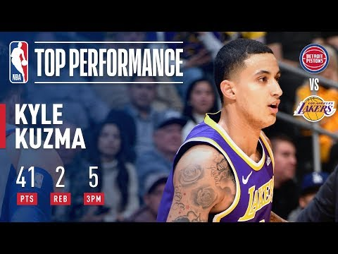 Kyle Kuzma ERUPTS For a Career High 41 Points In Just 3 Quarters | January 9, 2019