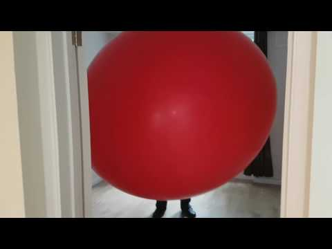 Video 2 - Lung Power Challenge blowing up an enormous balloon to burst