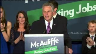 Democrat Terry McAuliffe elected governor of Va.