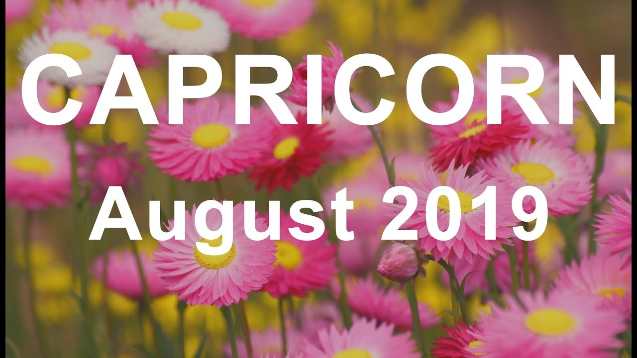 CAPRICORN AUGUST 2019 TAROT