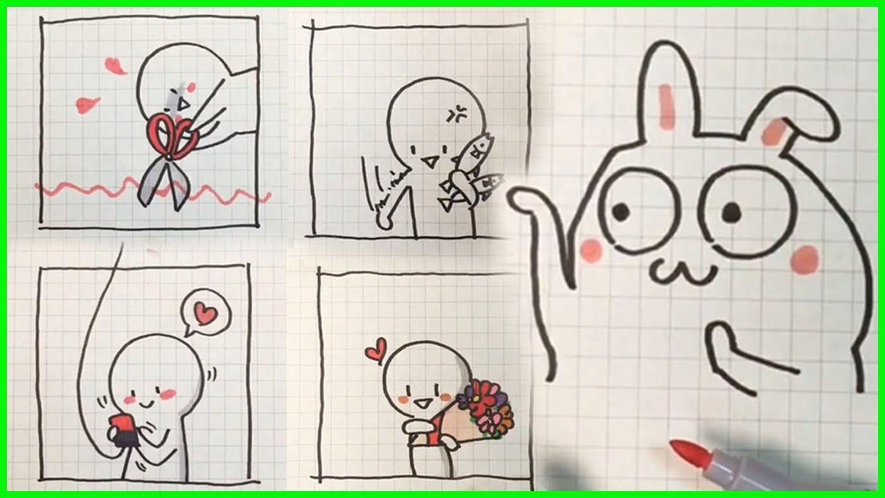 cách vẽ hình cute đơn giản – vẽ hình icon #23