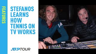 Join Tsitsipas On Visit To TV Broadcast Compound At Indian Wells 2019