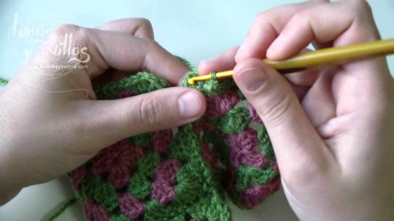 Tutorial Cómo Unir Granny Squares 3 formas - YouTube
