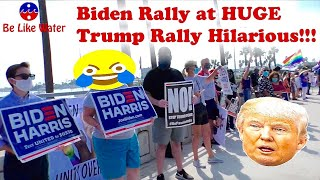 Biden Rally at HUGE Trump Rally Hilarious!!! Your Thoughts?