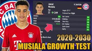 Jamal musiala growth test (2020-2030) - fifa 21 career mode