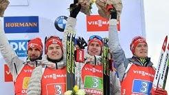Deutsche Biathleten bejubeln Staffel-Podium - Damen Vierte