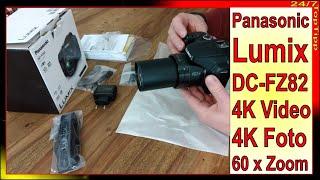 Panasonic Lumix DC-FZ82 Bridge Kamera - 4K Videos u. Fotos - 60x - Alternative zu Nikon Coolpix B700