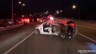 Accident impliquant un autobus et une voiture à Notre-Dame-des-Neiges