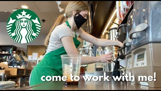 come to work with me at starbucks + GIVEAWAY // what its like to be a shift leader