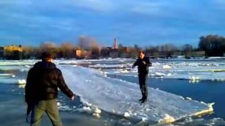 Неудачное развлечение на льду