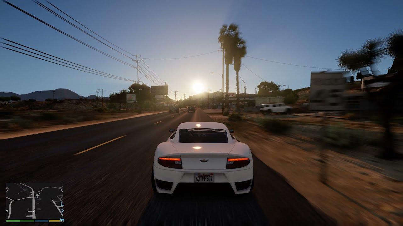 Grand Theft Auto V NaturalVision Remastered Gameplay