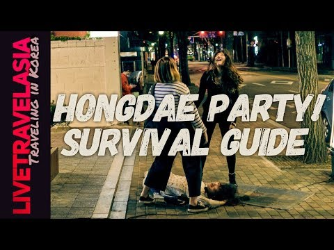 Seoul Hongdae Nightlife Guide to Drinking, Clubbing and Eating in Rounds All Night
