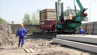 видео Забивка шпунта и фундамент на основе свай