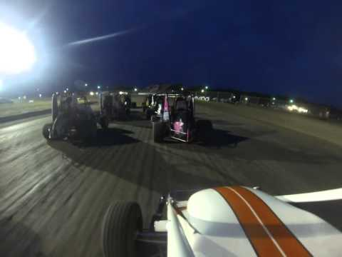 Superbowl Speedway TOWR Non Wing Heat Race 5-23-14 (First Non-Wing Race Ever)