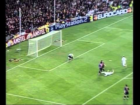 Barcelona 0 2 Real Madrid 2001 02 Uefa Champions League Semifinales Youtube