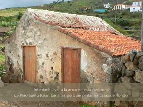 Acuarela casa rural canaria watercolours canarian rural house youtube - Casa rural en rupit i pruit ...