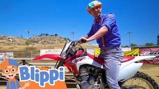 Blippi Explores A Motorcyle + More Blippi Videos | Educational Vehicle Videos For Kids