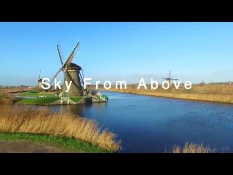 Sky From Above Drone | Kinderdijk | Molenwaard | The Netherlands