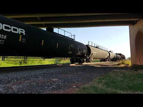 BNSF 6195, 7912, & 7112 northbound freight in Guthrie Oklahoma  September 27, 2019