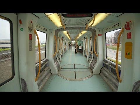 Denmark, Copenhagen, Metro ride from Ørestad to Vestamager, 1X elevator
